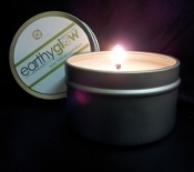 earthyglow* Lotion Candle Travel Tin - COTTON BLOSSOM